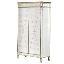 Wardrobe - 2 Door Double Wardrobe - Antique Mirrored Range