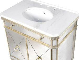 Sink Unit - Single Mirrored Sink Unit - Antique Mirrored Range