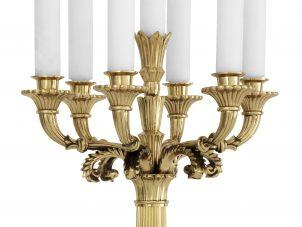 Candelabra - Tall 'Jefferson' 5 Arm Candelabra - Polished Brass