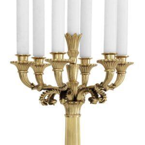 Candelabra - Tall 'Jefferson' 5 Arm Candelabra - Polished Brass