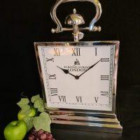 Mantel Clock - Bond Street London Co - Chrome Mantel Clock