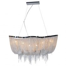 Large Beaded Basket Chandelier