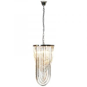 U Shaped Crystal Pendant Chandelier