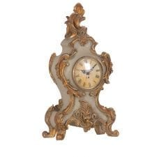 Traditional Gold Trim Mantel Clock