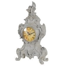 Traditional Grey Trim Mantel Clock