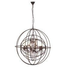 Bronze Effect Sphere Chandelier