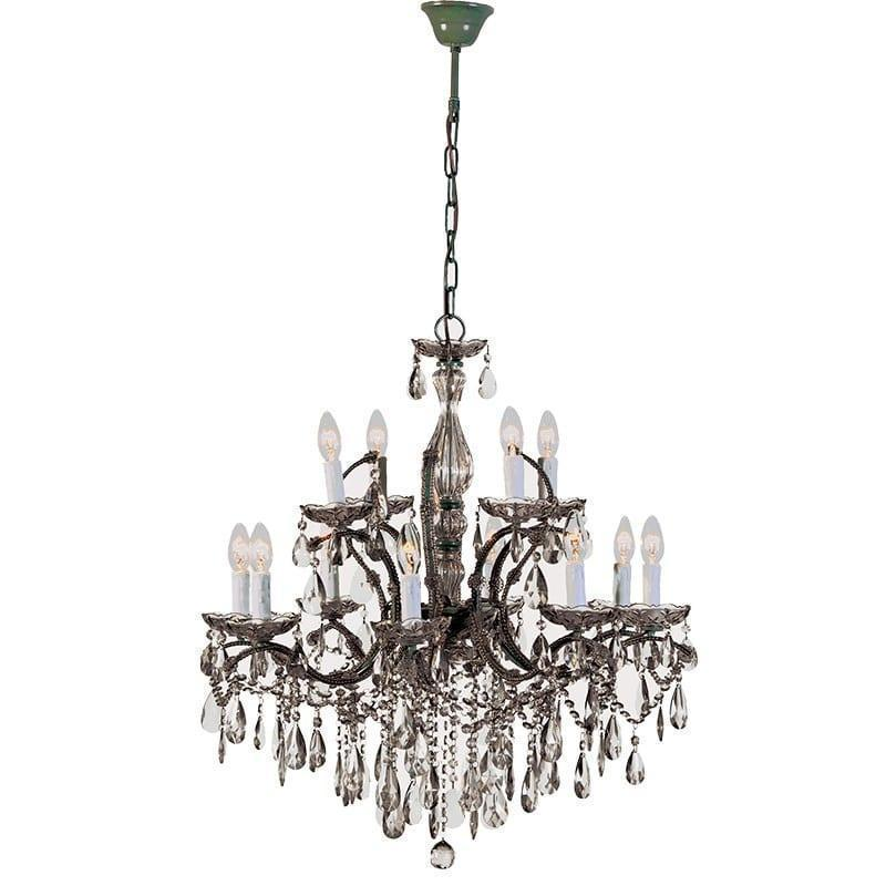 2 tier smoked crystal glass ornate chandelier 2 tier smoked crystal 2 tier smoked crystal glass ornate chandelier aloadofball Gallery