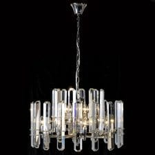 Large Round Crystal Bar Chandelier