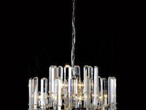Large Round Crystal Bar Chandelier