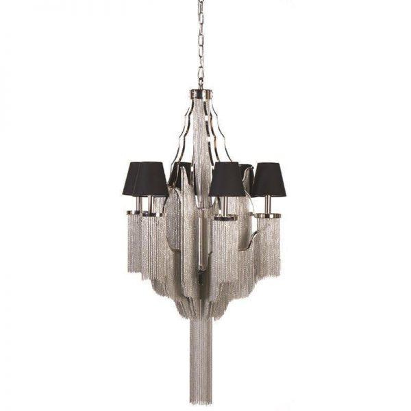 5 light chrome chain ornate chandelier 5 light chrome chain aloadofball Gallery