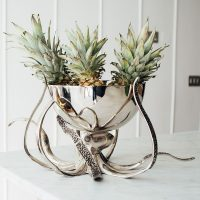 Wine Cooler - Large Octopus Chrome Wine/Champagne Cooler - Culinary Concepts