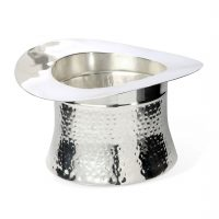 Wine Cooler - Silver Plated Top Hat Wine/Champagne Ice Bucket - Culinary Concepts