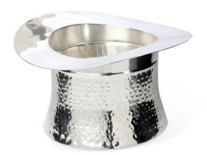 Wine Cooler - Silver Plated Top Hat Wine/Champagne Ice Bucket