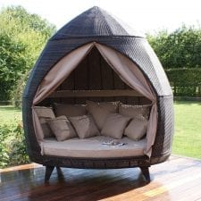Casbah Large Garden Daybed - BROWN POLYWEAVE