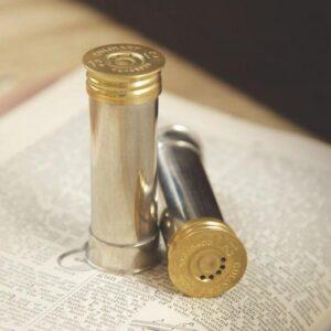 Cruet Set - Silver Plated Gun Cartridge Design Salt & Pepper Set