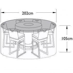 6 Seat Bar Set Cover - Outdoor All Weather Garden Furniture Cover