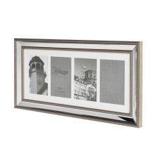 Brushed Silver Edge 4 Picture Photo Frame
