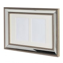 Brushed Silver Edge 2 Picture Photo Frame