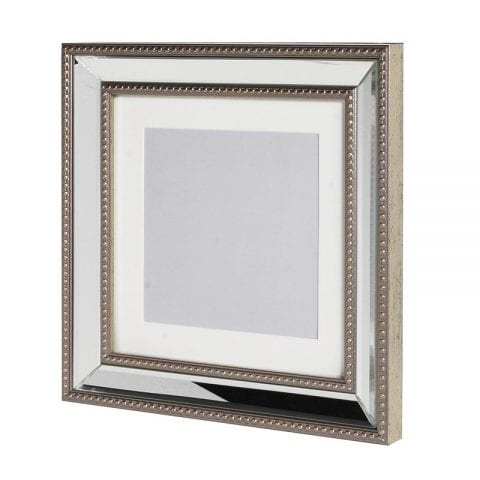 Brushed Silver Edge Square Photo Frame