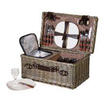 Rattan Picnic Hamper - 4 Place Settings - Cool Box