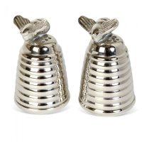 Silver Plated Honey Beehive Salt & Pepper Set