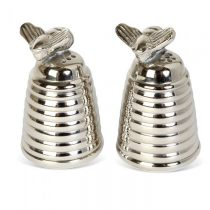 Silver Plated Honey Beehive Salt & Pepper Set