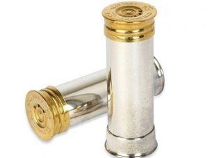Silver Plated Gun Cartridge Salt & Pepper Set