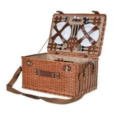 Rattan Executive Chestnut Picnic Hamper - 4 Place Settings
