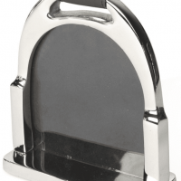 Photo Frame - Large Chrome Plated Stirrup Design Picture Frame