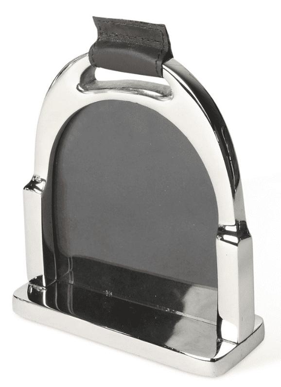 Photo Frame - Large Chrome Plated Stirrup Design Picture Frame
