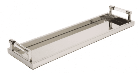 Chrome Plated Acrylic Handle Long Server Tray