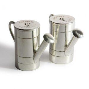 Cruet Set - Silver Plated Watering Can Design Salt & Pepper Set