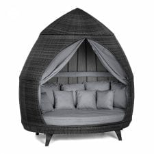 Casbah Large Garden Daybed - GREY POLYWEAVE