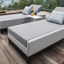 Divano All Weather Fabric Taze Sun Lounger Set Of 2 - GREY