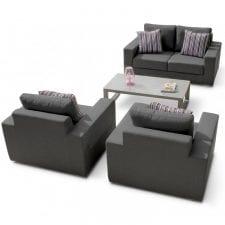 Zen 4 Seat Garden Sofa Set - The All Weather Fabric Outdoor Furniture Range - Grey