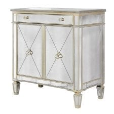 Venetian Seville Antique Mirrored Large Glass Cabinet
