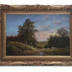 Original Oil Painting - 'Farm Hands At Work' By Noel Ripley
