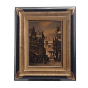 Original Oil Painting 'Dutch Street' By PC Steenhouwer