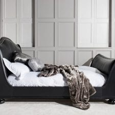 Safari Range - Ebony & Leather Footboard & Headboard Luxury 6ft Bed