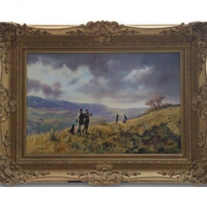 Original Oil Painting - 'The Shooting Party' By John Seerey Lester