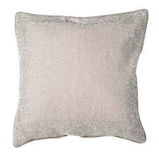 Luxury Cushion Collection ~Creamy Silver Hand Embroidered Cushion ~ Feather Filled