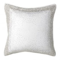 Luxury Cushion Collection ~ Ivory & Silver Hand Embroidered Cushion ~ Feather Filled