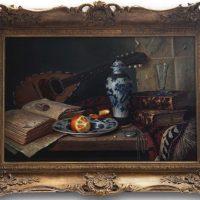 Ray Campbell 'Mandolin & Porcelain' Original Oil Painting