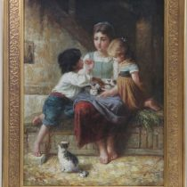 George Corbet 'Playtime' Original Oil Painting