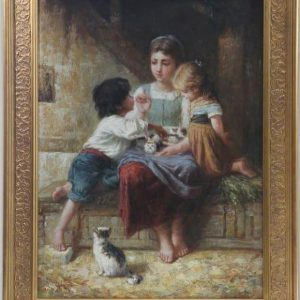 Original Oil Painting - 'Playtime' By George Corbet