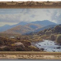 Peter Coulthard 'Stags At Glenmuick - Balmoral' Original Oil Painting