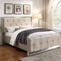 Venetian Mirrored Deep Buttoned King Size 5ft Bed