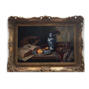 Original Oil Painting - 'Mandolin & Porcelain' By Ray Campbell