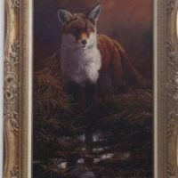 Original Oil Painting - 'Woodland Fox 1' By Stephen Cummings
