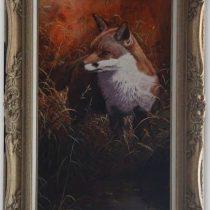 Stephen Cummings 'Fox Near Woodland Track' Original Oil Painting